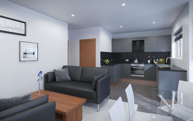 Northfield Close Living Kitchen | Hemisphere Homes Ltd